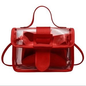 Clear Red Handbag